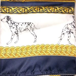 Gorgeous Dalmatian silky scarf